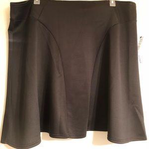 Modamix black midi skirt with visible zipper